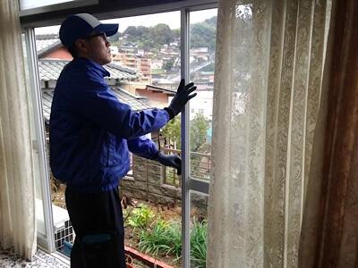 空き家管理として空気の入れ替え