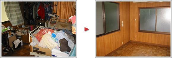 介護ベットから家具一式すべてお部屋の片付けいたしました。