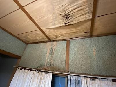 空き家のご実家の天井の雨もり被害