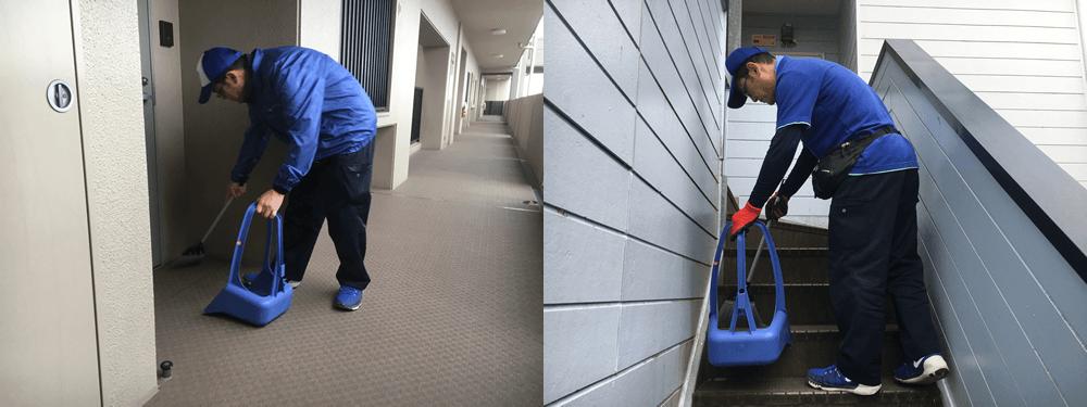 廊下、階段、エレベーター前、共用部の清掃
