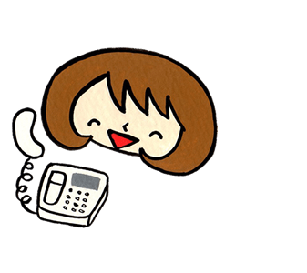 【便利屋】 暮らしなんでもお助け隊 福岡南店 に無料相談され、問題解決できることを知り、安心して笑顔がこぼれたご相談者の女性イラストです。(福岡を離れ遠方で暮らすご長女様をイメージしています)